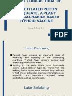 Uji Klinis Vaccine Tifoid