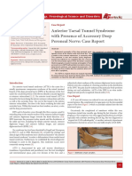 Anterior Tarsal Tunnel Syndrome with Presence of Accessory Deep Peroneal Nerve