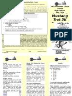 Mustang Trot Registration Flyer 2016
