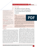 The Efficacy of Laser Therapy for Rotator Cuff Tendinopathy