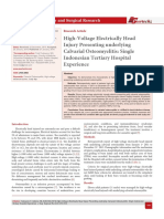 High-Voltage Electrically Head Injury Presenting underlying Calvarial Osteomyelitis