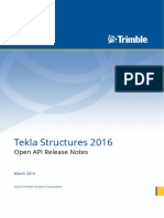 Tekla Structures 2016 Open API Release Notes