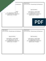 Ejemplos de Carta Con Destinatario