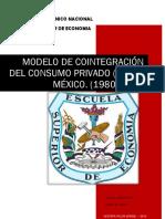 Enfoque de Cointegracio Engle Granger para el Consumo Privado - Maribel Herrera