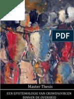 Master Thesis, Een Epistemologie Van Crowdsourcen Binnen de Overheid
