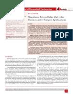 Nanoderm Extracellular Matrix for Reconstructive Surgery Applications