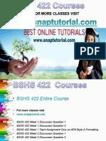 BSHS 422 Academic Success /Snaptutorial