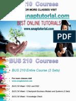 BUS 210 Academic Success /Snaptutorial