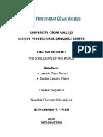 Informe Ingles III