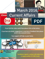 29 March 2016 Current Affairs for Competition Exams