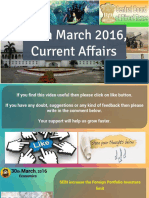 30 March 2016 Current Affairs for Competition Exams