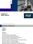 Lecture 13 Abap Objects
