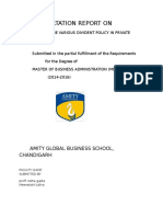project report of divivdend final