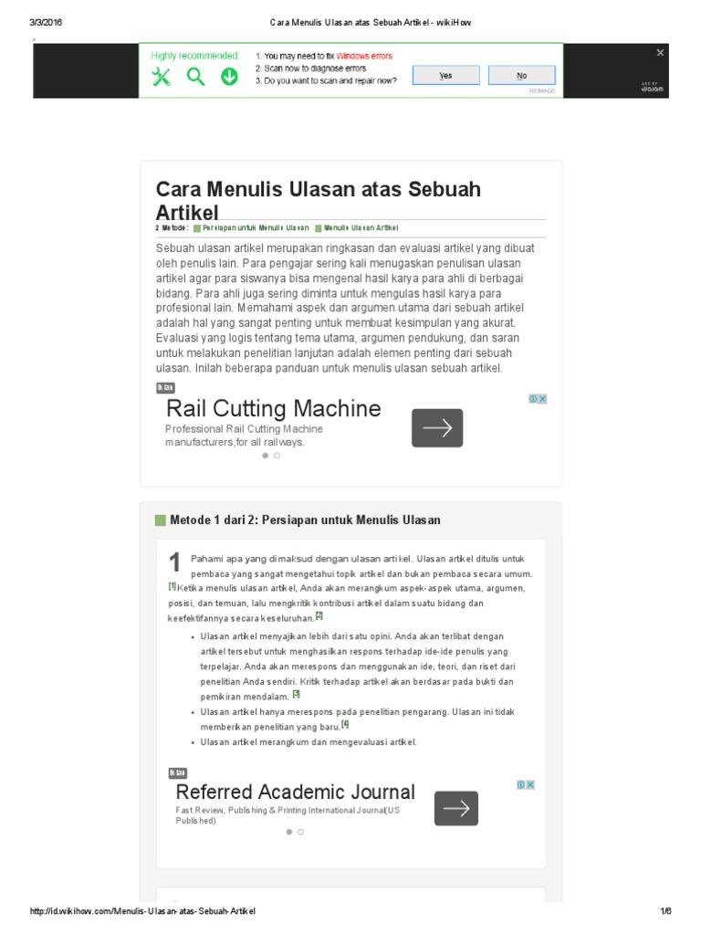 Artikel wikihow
