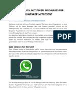 MIT EINER SPIONAGE-APP WHATSAPP MITLESEN