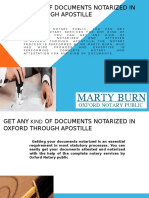 Get Any Kind Of Documents Notarized In Oxford Through Apostille