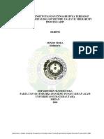 Analisis Sensitivitas Dan Pengaruhnya Terhadap Urutan Prioritas Dalam Metode Analytic Hierarchy Process (Ahp) (Mindo Mora )