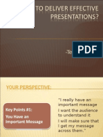 How to deliver effective Presentations?