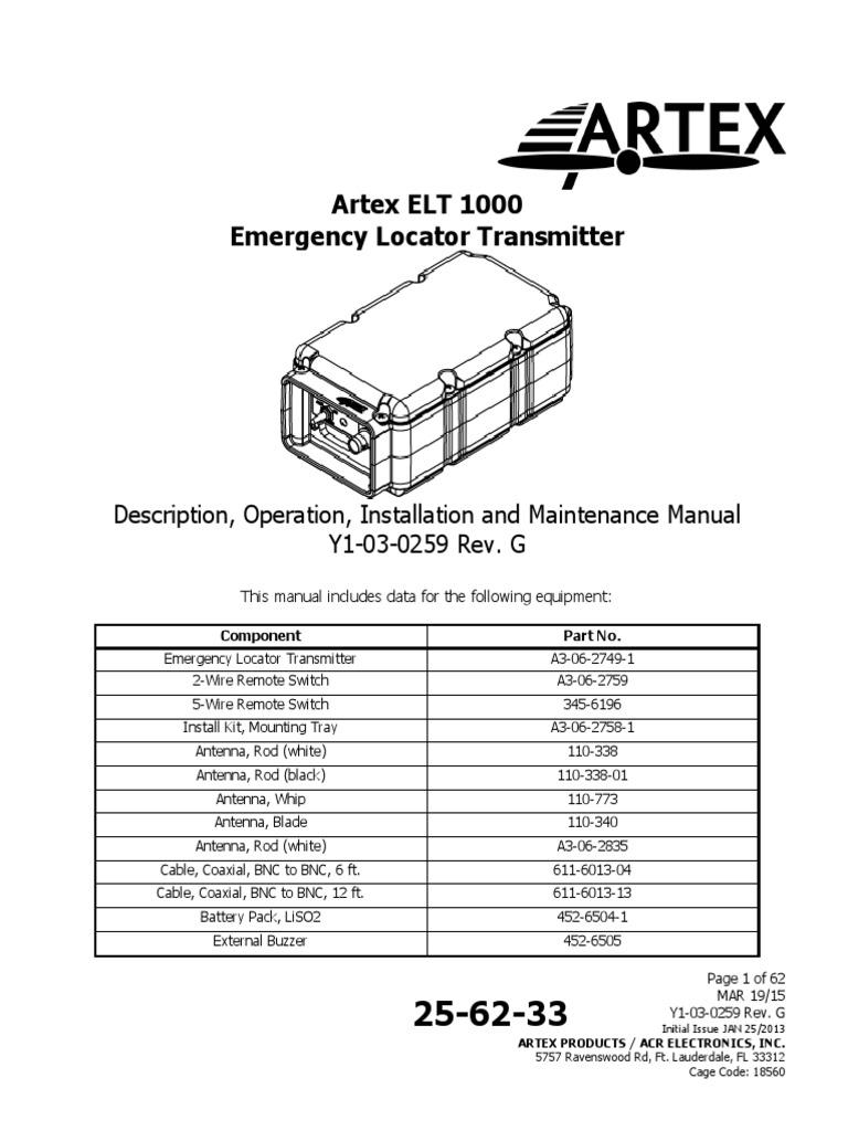 elt 1000 y1 03 0259 rev g electromagnetic interference