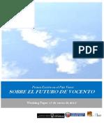 Prensa Escrita en el País Vasco. SOBRE EL FUTURO DE VOCENTO