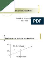 Risk Adjusted Performance