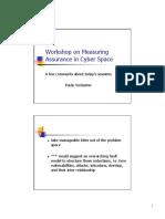 14-VerissimoWorkshop in Measuring Assurance in Cyberspace