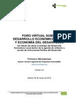 01. Enfoque Desarrollo Economico Local. Francisco Alburquerque