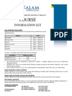 Course Information Kit
