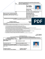 Supreme Courtadmit Card For