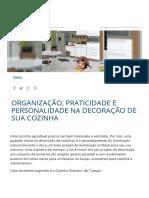 Organização, Praticidade e Personalidade Na Decoração de Sua Cozinha _ Móveis Bartira