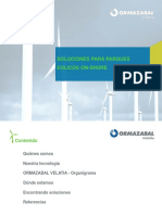 Soluciones ORMAZABAL- Eólicos on-shore ENERO 2014