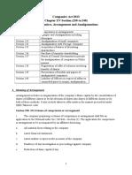 Comprimise, Arrangement and Amalgamation Notes