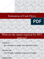 Estimation of Cash Flows and Discount Rate