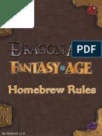 Fantasy Age - Abdanck's Homebrew Rules
