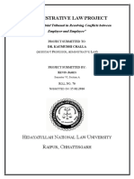 Kevin James Semester VI 76 Administrative Law Project