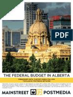 Mainstreet - Federal Budget in Alberta