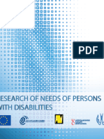 RESEARCH OF NEEDS OF PERSONS WITH DISABILITIES