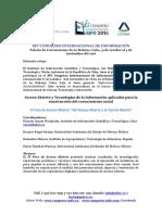Convocatoria al IV Foro Acceso Abierto en INFO 2016