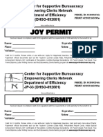 2 Joy Permits Statement Size