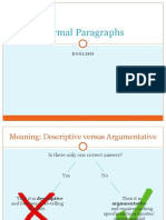 formal paragraphs
