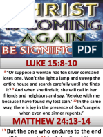 Christ is Coming Again Be Significant Apostle Sarah 102115