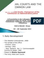 Presentationon Ombudsman, Courts and Common Law