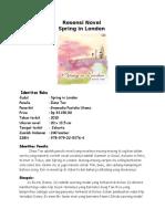 Resensi Novel Spring in London