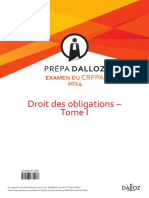 Extrait Droit Obligations 2014 Tome1 Prepa Dalloz