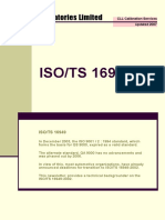 Calibration ISO 16949
