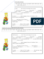 1Complete the Paragraphs About Bart With the Verbs in the Box - Present Simple