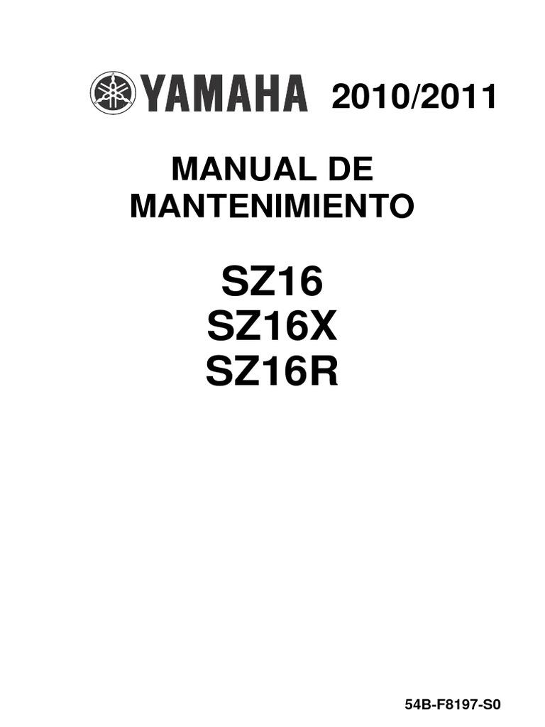 Yamaha SZ16R Manual de Mantenimiento
