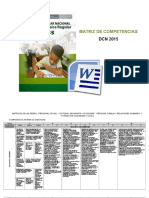 Matriz de Competencias y Capacidades Dcn 2015.
