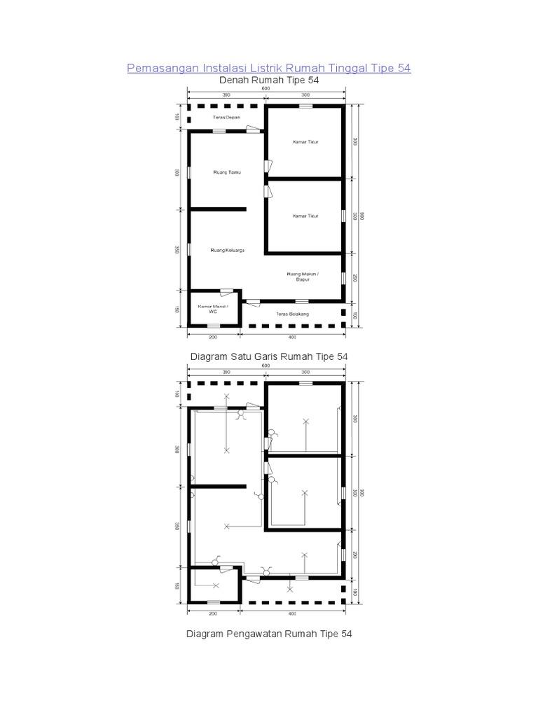 Pemasangan instalasi listrik rumah tinggal tipe 54 ccuart Images