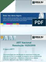Resolução 1025/2009 - ART Nacional